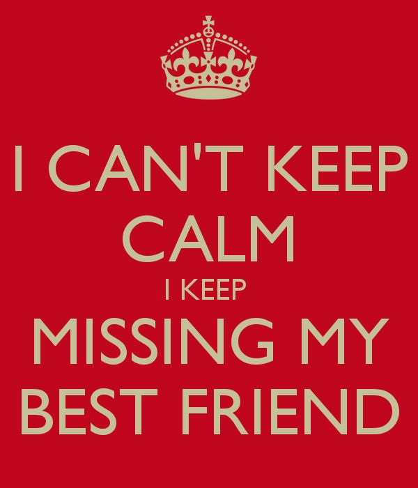 I Cant Keep Calm I Keep Missing My Best Friend Picture