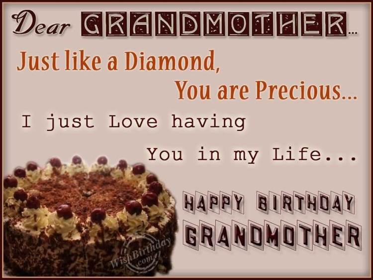 I Just Love Having You In My Life Happy Birthday Grandmother Wishes Image