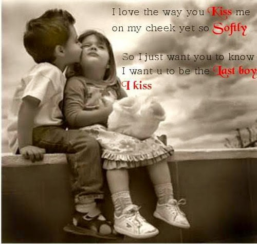 I Love The Way You Kiss Me Happy Kiss Day Quotes Image