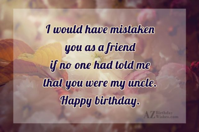 I Love You Happy Birthday Uncle Wishes Image