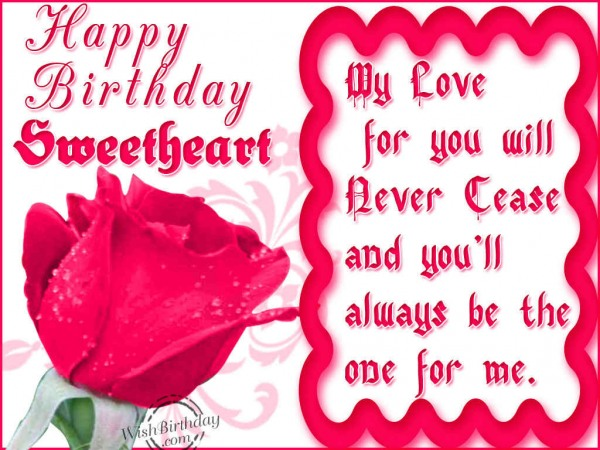 I Love You Have A Day Happy Birthday Sweetheart