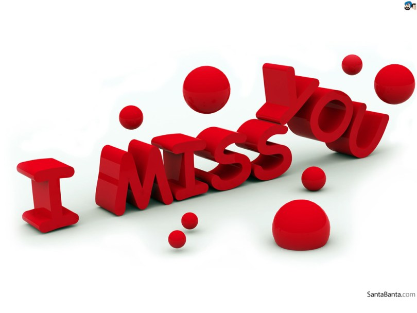 I Miss You Beautiful Wallpaper
