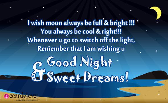 I Wish Moon Always Be Full Good Night & Sweet Dreams