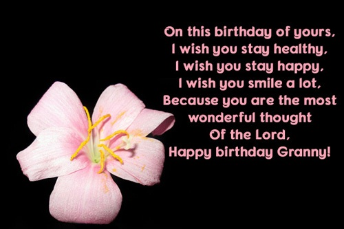 I Wish You Stay Healthy Happy Birthday Granny Greeting Quotes Image