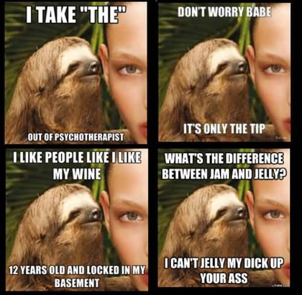 I take the out of psychotherapist Funny Sloth Memes