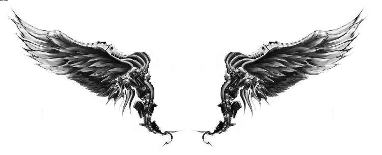 Incredible Angle Wing Tattoos Sample