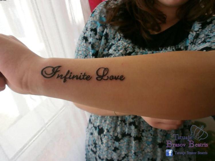 Incredible Infinite Love Quote Wrist Tattoo