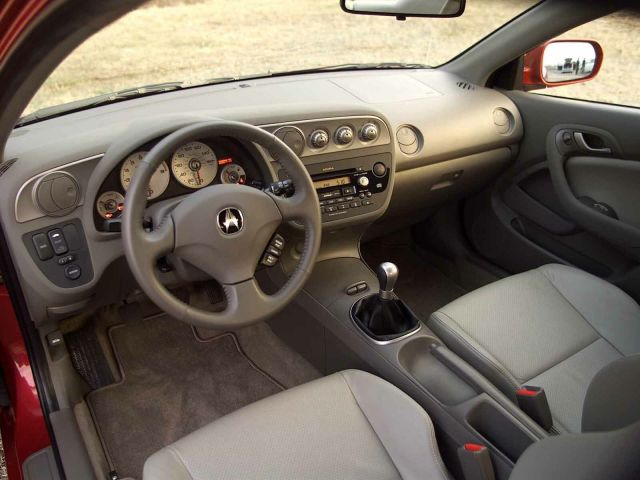 Inside Stirring view of beautiful Acura RSX Car