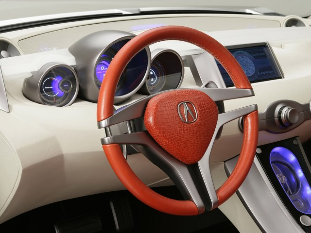Inside Stirring view of silver beautiful Acura RDX Concept Car