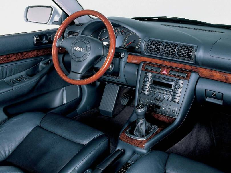 Inside view of beautiful Audi A4 Older car