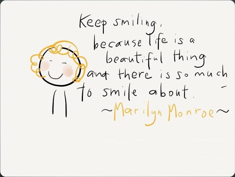 Inspirational Happiness Quotes Keep smiling, because life is a beautiful thing and there is so much to smile about Marilyn Monroe
