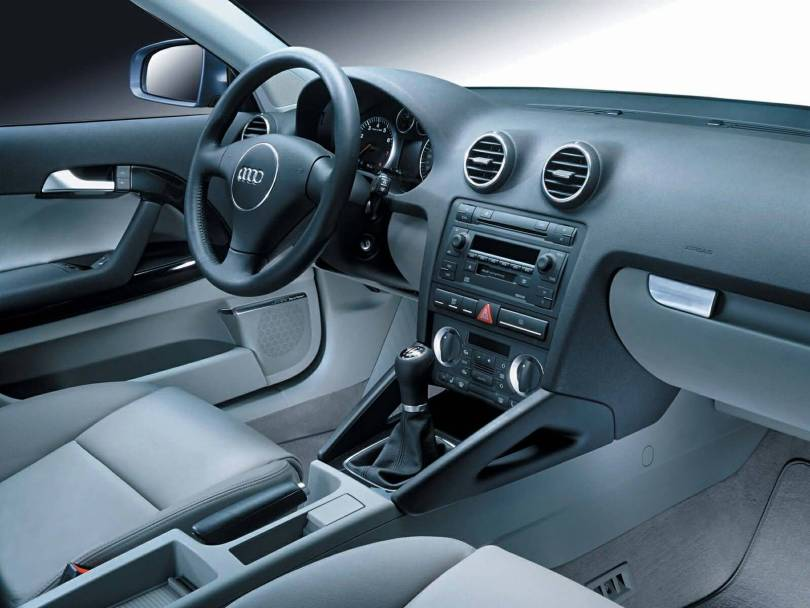 Interior view of beautiful Audi A3 car