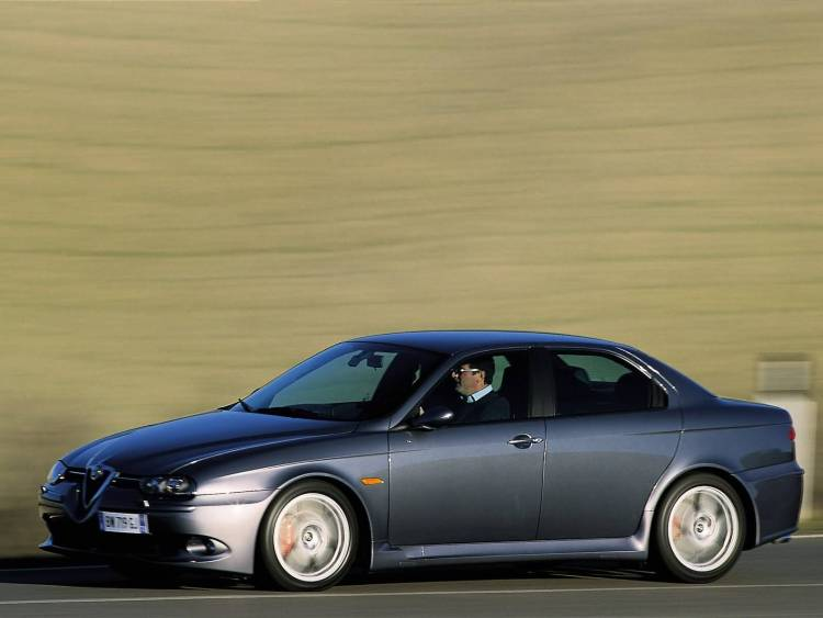 Left side of awesome Alfa Romeo 156 GTA Car on the road