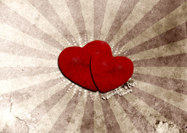 Love Heart Happy Valentine Day Wallpaper