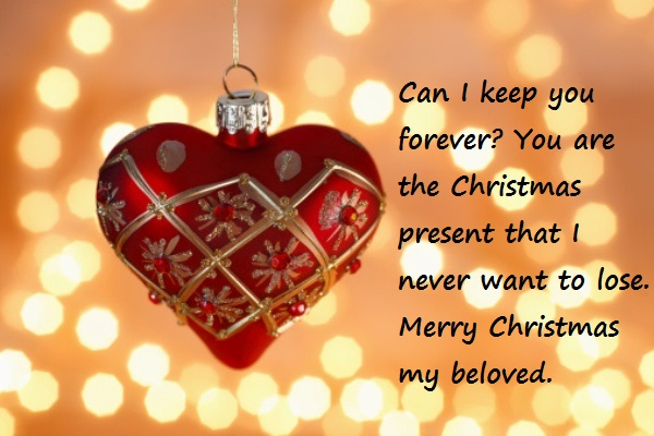 Lovely Christmas Wishes For Lover
