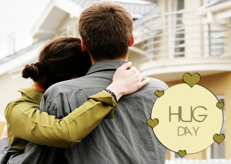 Lovely Greeting To My Love Happy Hug Day Image