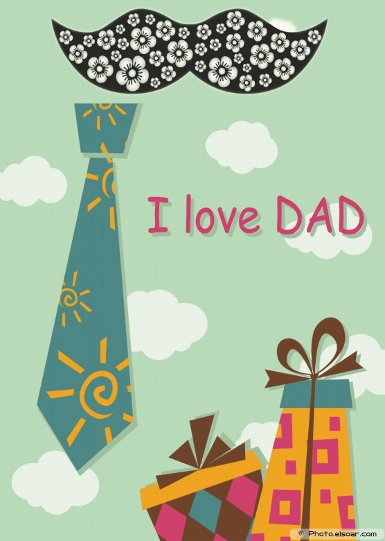 Lovely Happy Father's Day Card From Daughter