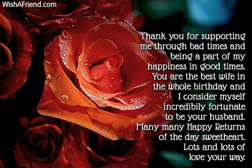 Many Many Happy Returns Of The Life Love Your Way Greetings For Wife