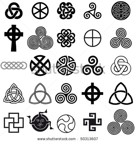 Maori White Black Color Ink Set Of Celtic Tattoo Designs For Girls