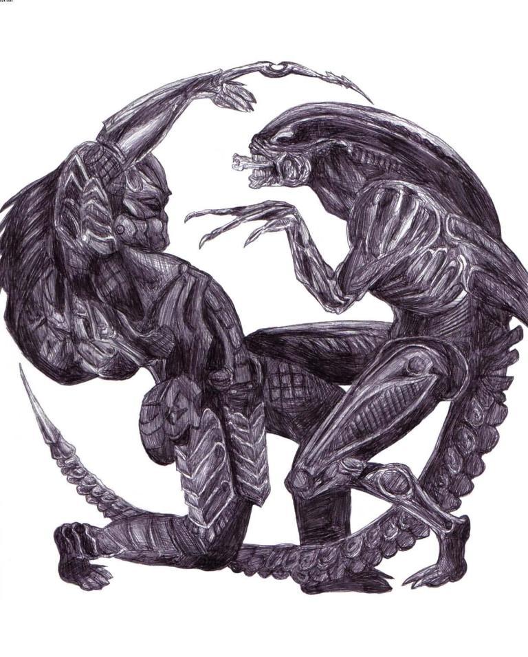 Marvelous-Black-Color-Ink-Alien-vs-Preda