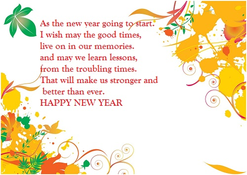 Message To Friends Happy New Year Wishes Image