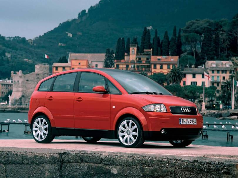 Mind Blowing red Audi A2 Car
