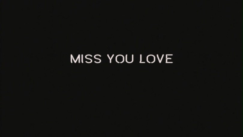 Miss You Love Black Wallpaper