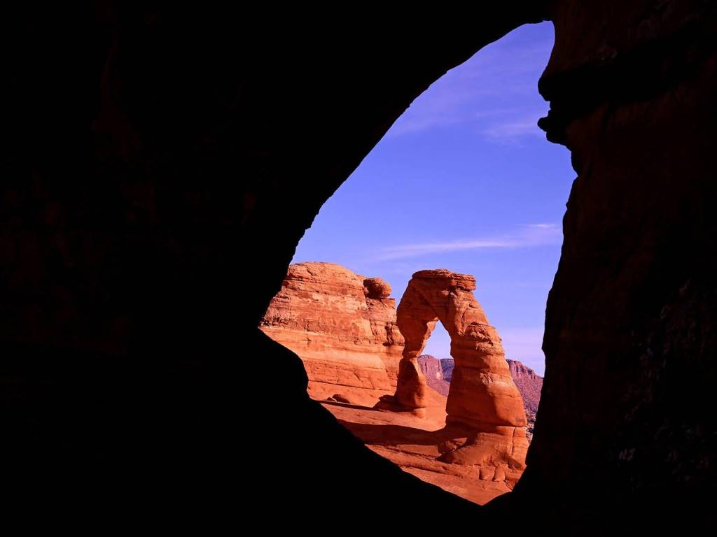 Most Delicate Arch Through Frame Arch Utah 4K Wallpaper
