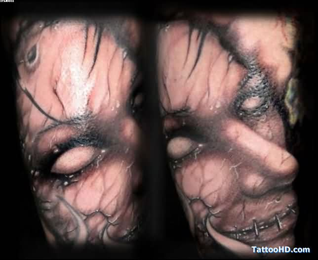 Most Incredible Zombie Gypsy Tattoo