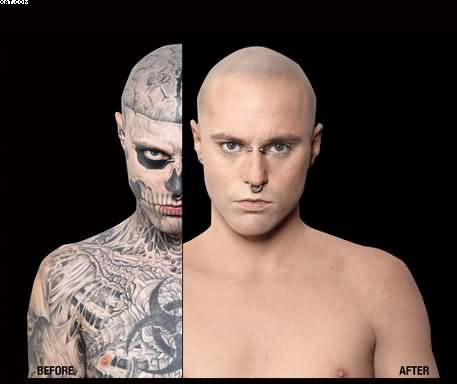 Most Wonderful Zombie Boy Without Tattoos Diffrence