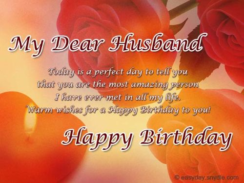 My Dear Husband Happy Birthday Wishes Message