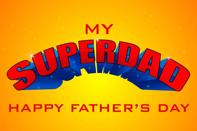 My Super dad Happy Father's Day Wishes Image