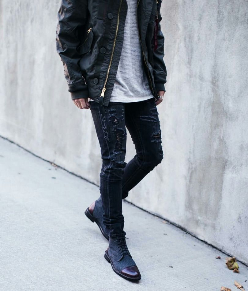 Nice Jacket For Men With Wonderful Black Leather Shoe