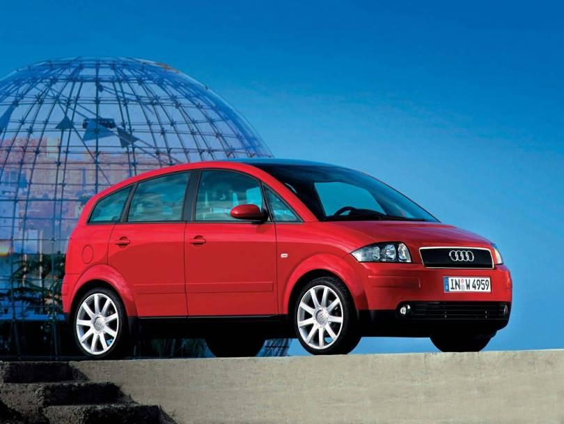 Nice Red Audi A2 car
