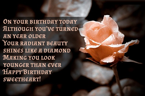 On Your Birthday Today Happy Birthday Sweetheart Greetings Quotes