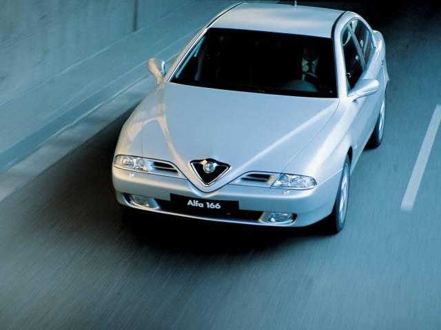 On the road Alfa Romeo 166 Car very fast