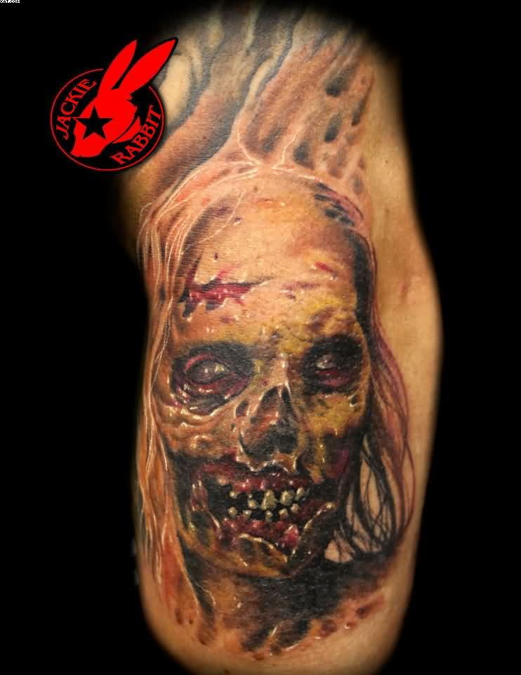 Phenominal Celebrity Zombie Girl Tattoo