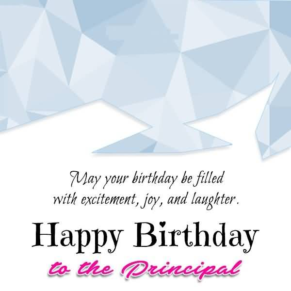 Principal Birthday Wishes & Greeting Image