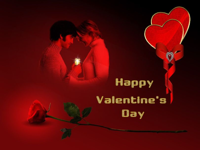 Romantic Happy Valentine Day Greetings Image