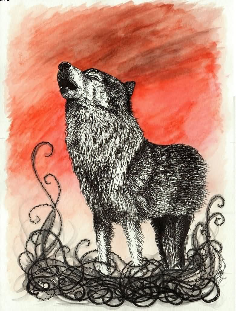 Sample Tattoo Design Of The Wolf For Male