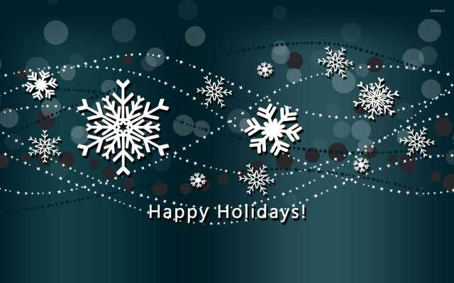 Snowflakes Happy Holiday Wishes
