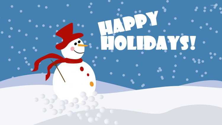 Snowman Wishes Happy Holiday Image