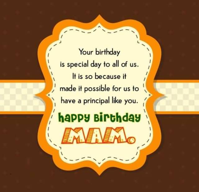 Special Principal Man Birthday Quotes & Wishes Image