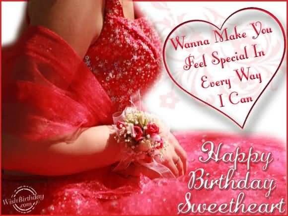 Special Sweetheart Happy Birthday Wishes Image