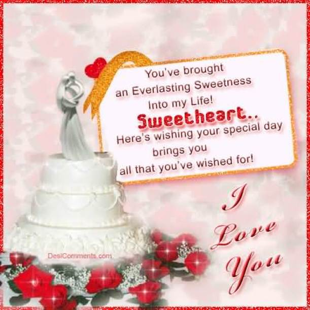 Sweetheart Here's Wishing Your Special Day