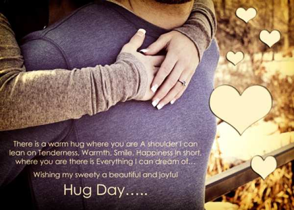 There Is A Warm Hug Happy Hug Day