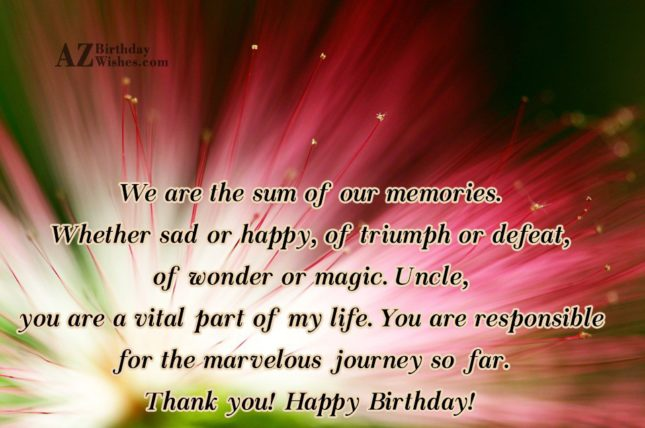 To My Dearest Uncle Happy Birthday Message Image