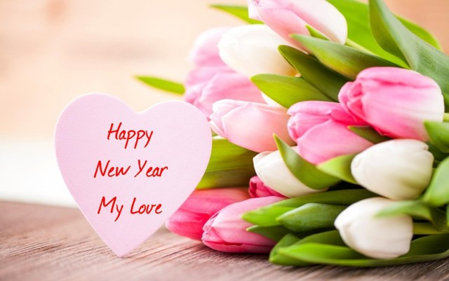 To My Love Happy New Year Greetings Image