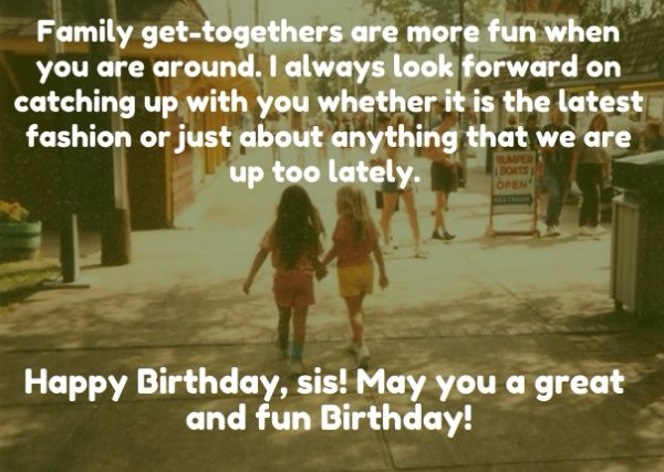 To My Lovely Sister Happy Birthday Greetings Message Image
