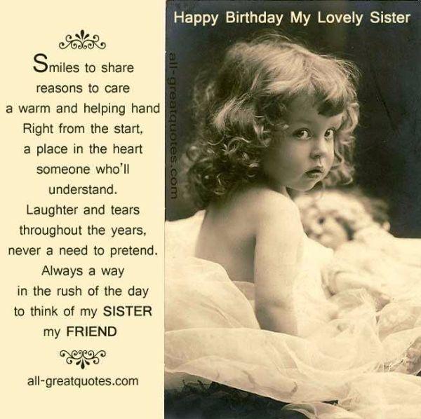 40 Cute Dear Sister Happy Birthday Wishes & Greetings
